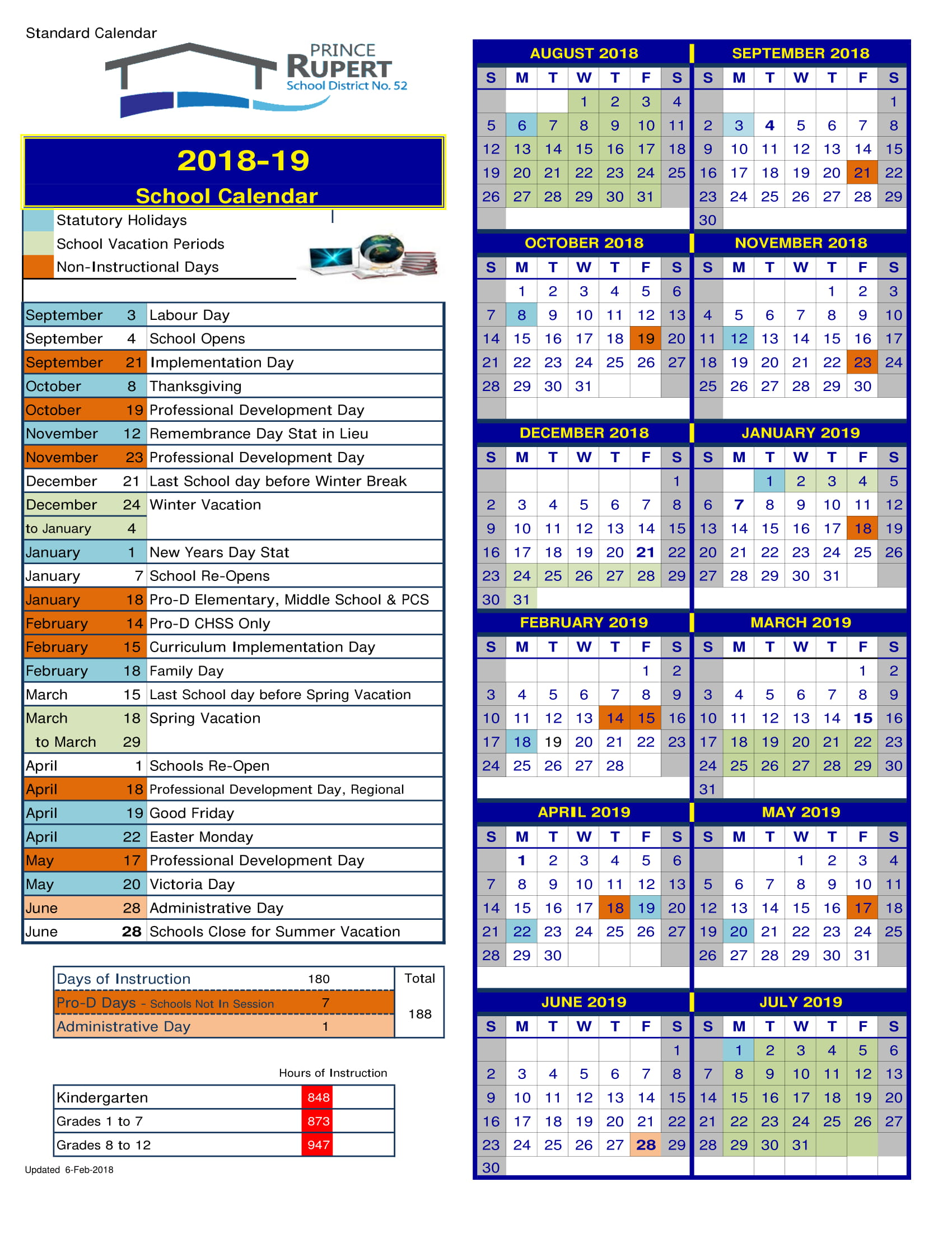 district school calendar